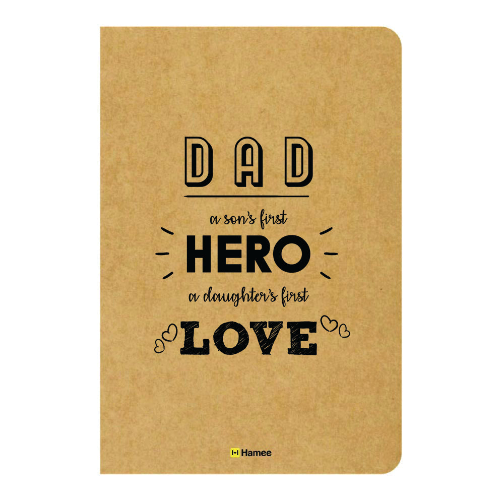 Dad Hero Ruled Craft Notebook