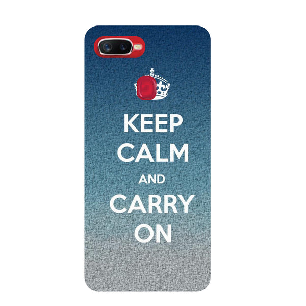 Keep Calm Oppo F9 Pro Back Cover-Hamee India