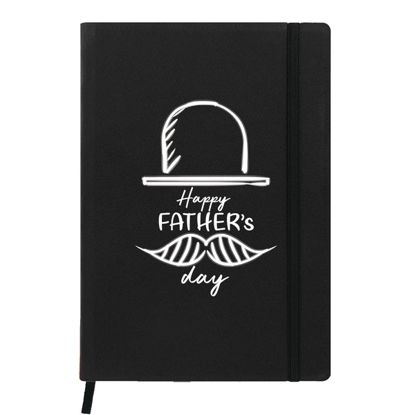 Father's Hat Black Notebook