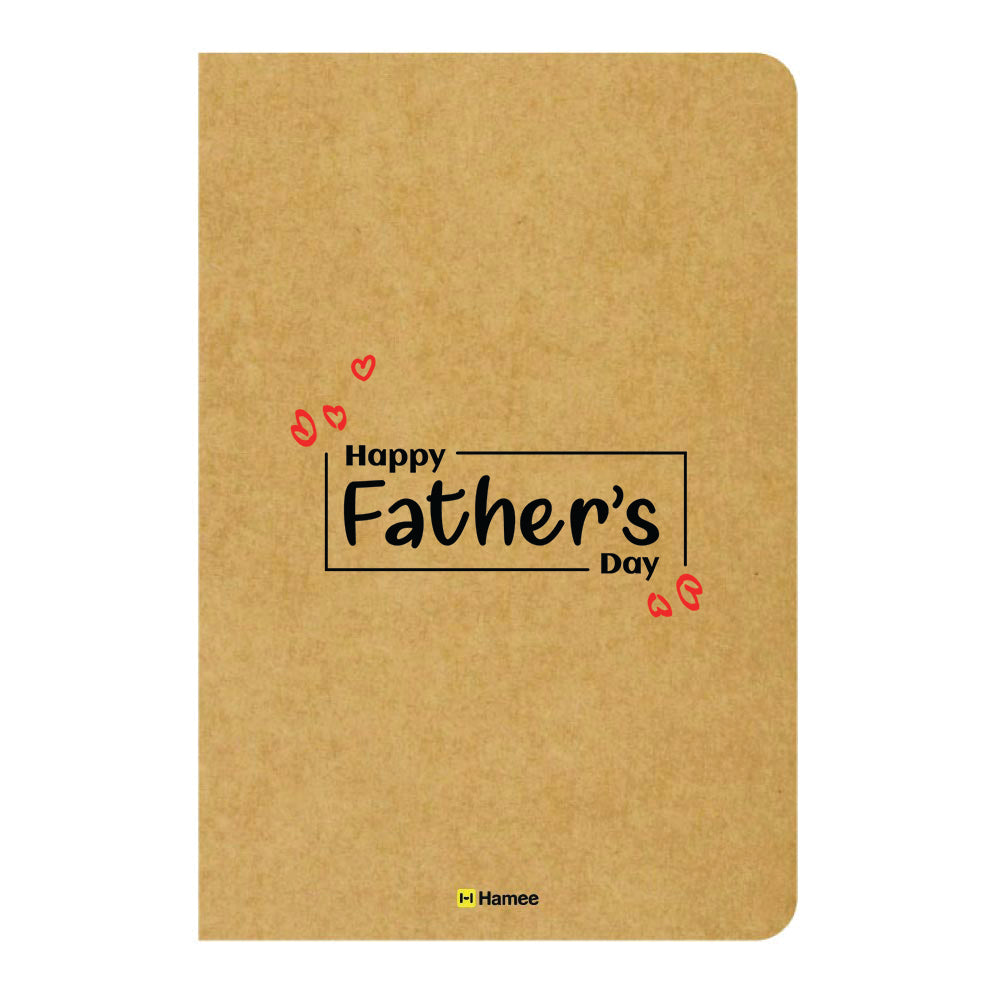 Father's Heart Ruled Craft Notebook