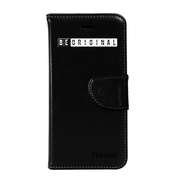 Hamee - Be Original - Premium PU Black Leather Flip Diary Type Cover for iPhone 6/6s