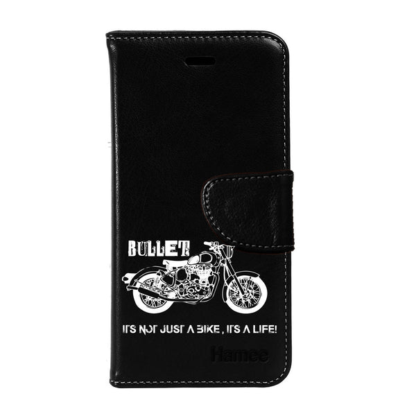 Hamee - Bullet Love - Premium PU Black Leather Flip Diary Type Cover for iPhone 6/6s