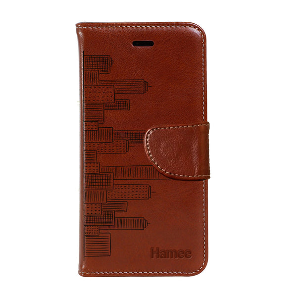 Hamee - City Life - Premium PU Leather Flip Diary Card Pocket Case Cover Stand for Moto Z2 Play