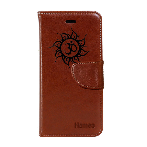 Om White - PU Leather Flip Cover for One Plus 3T-Hamee India