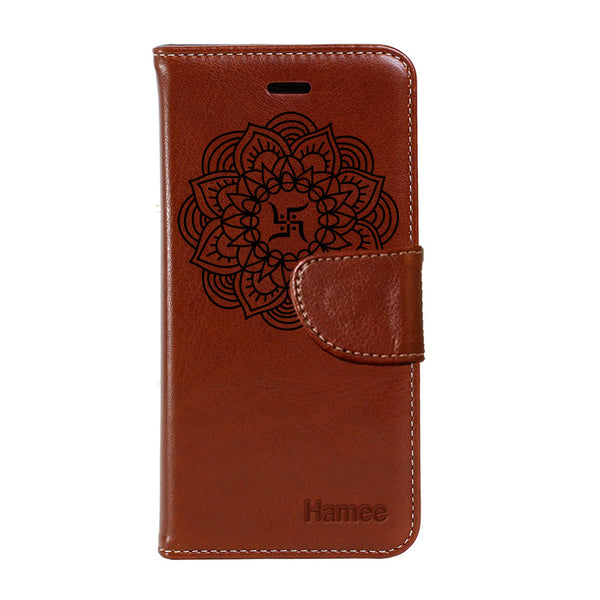 Swastik - PU Leather Flip Cover for One Plus 3-Hamee India