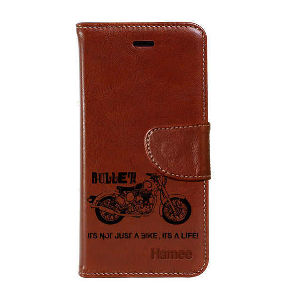 Hamee - Bullet Love - Premium PU Brown Leather Flip Diary Type Cover for iPhone 7