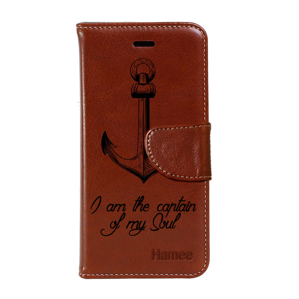 Hamee - Anchor - Premium PU Brown Leather Flip Diary Type Cover for Lenovo Vibe K5 Plus