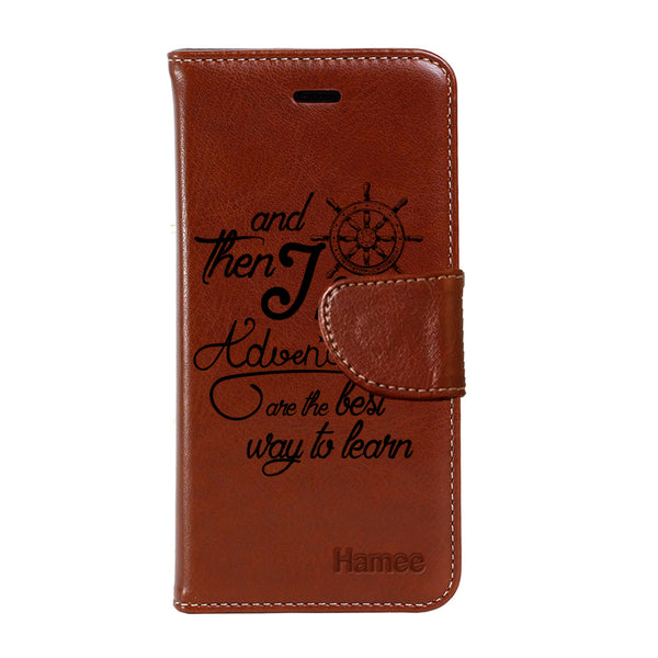 Hamee - Adventururous - Premium PU Leather Flip Diary Card Pocket Case Cover Stand for Moto Z2 Play