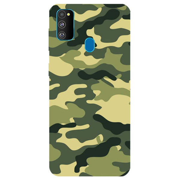 Green Camouflage Samsung Galaxy M30s Back Cover