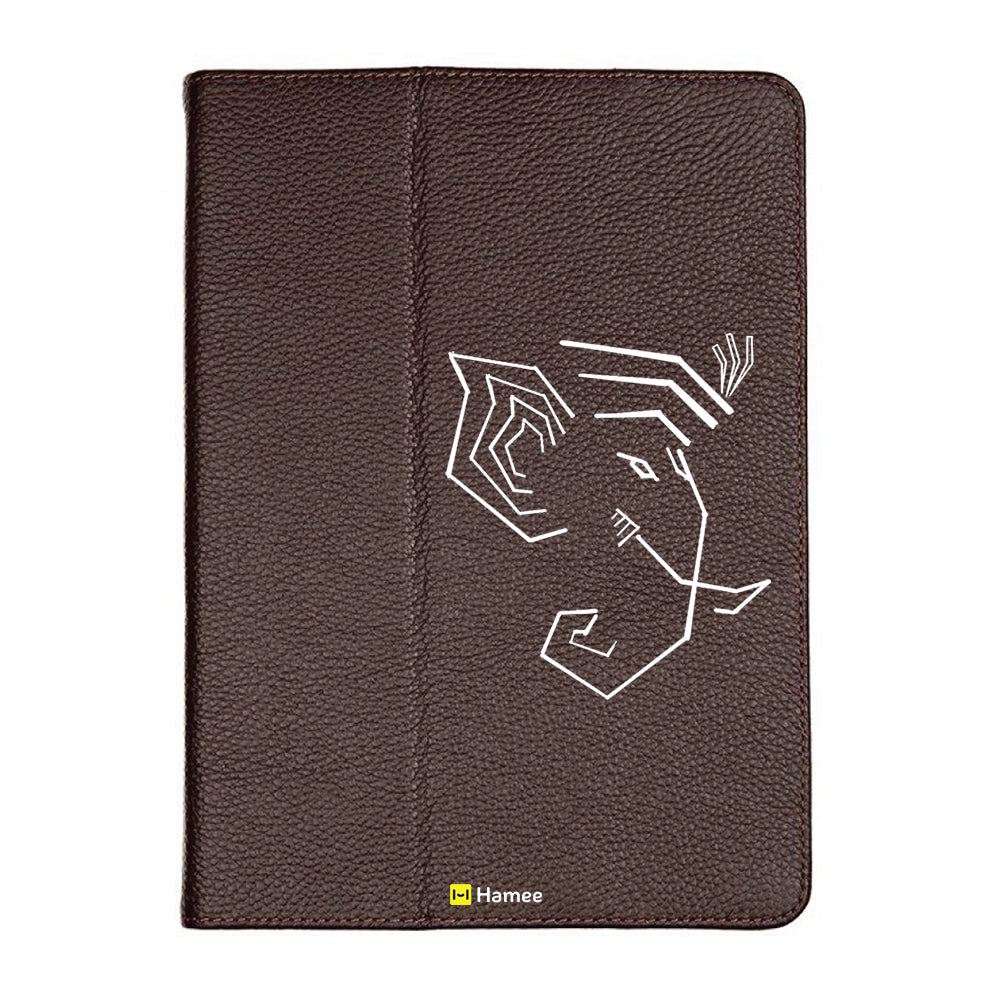 Ganesha Edge - Brown iPad 9.7 inch Folio Case