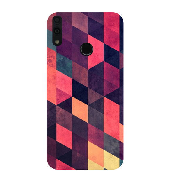 Pink Abstract Honor 8C Back Cover-Hamee India