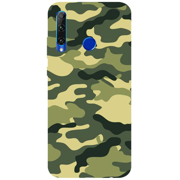 Green Camouflage Honor 20i Back Cover
