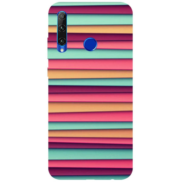 Colourful Stripes Honor 20i Back Cover