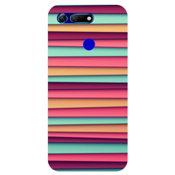 Colourful Stripes Honor View 20 Back Cover-Hamee India
