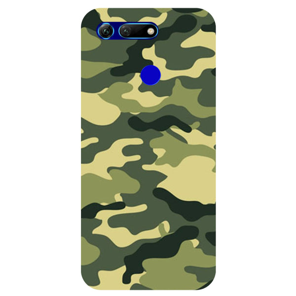 Green Camouflage Honor View 20 Back Cover-Hamee India