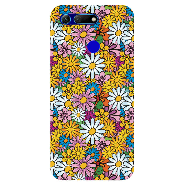 Colourful Flowers Honor View 20 Back Cover-Hamee India