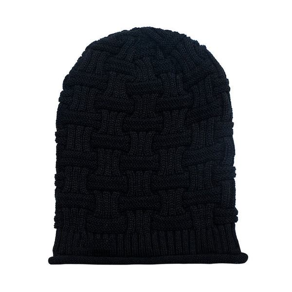 Hamee Black Knitted Slouchy Beanie-Hamee India