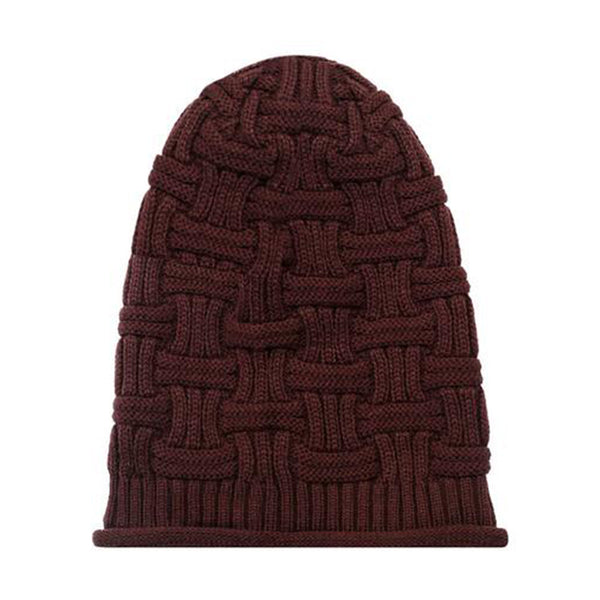 Hamee Brown Knitted Slouchy Beanie - Hamee India