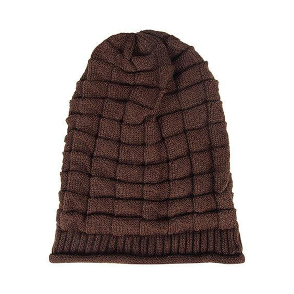 Hamee Coffee Knitted Slouchy Beanie-Hamee India