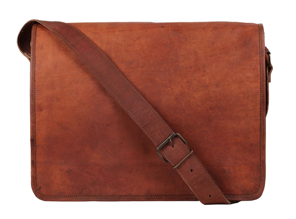 Leather Messenger Bag for Men Leather Laptop Bag Shoulder Bag Gift (RT) - Hamee India