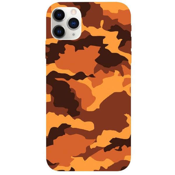 Orange Camouflage iPhone 11 Pro Back Cover