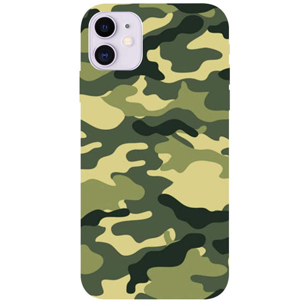 Green Camouflage iPhone 11 Back Cover