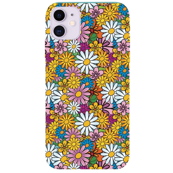 Colourful Flowers iPhone 11 Back Cover