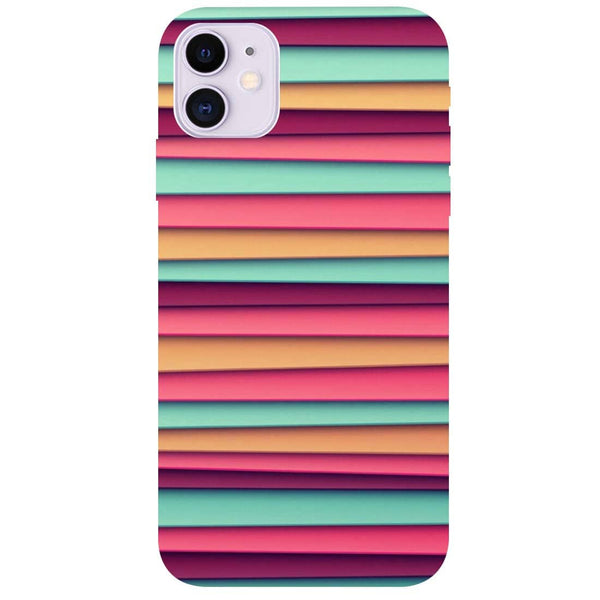 Colourful Stripes iPhone 11 Back Cover