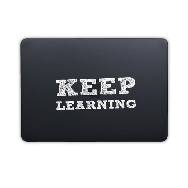 "Keep Learning - Black MacBook Air 13"" Retina (2018) Cover"