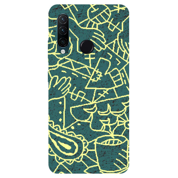 Abstract Lenovo K10 Note Back Cover