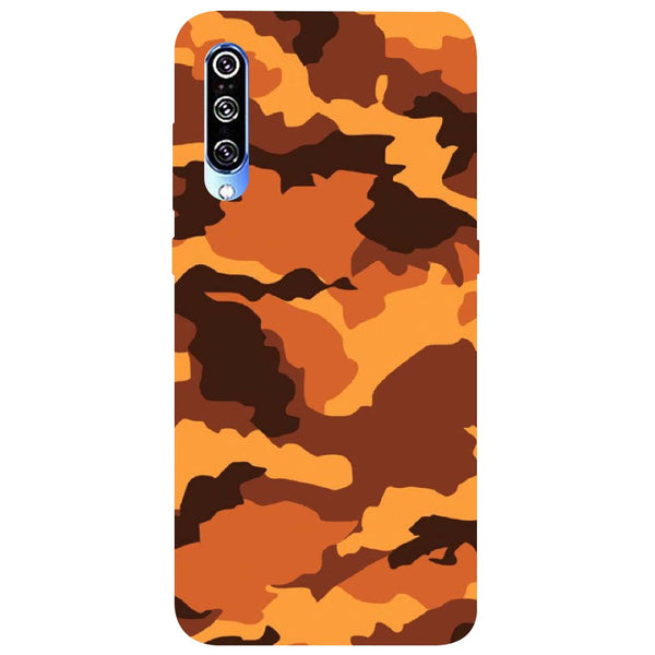 Orange Camouflage Mi A3 Back Cover