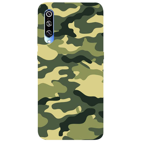 Green Camouflage Mi A3 Back Cover