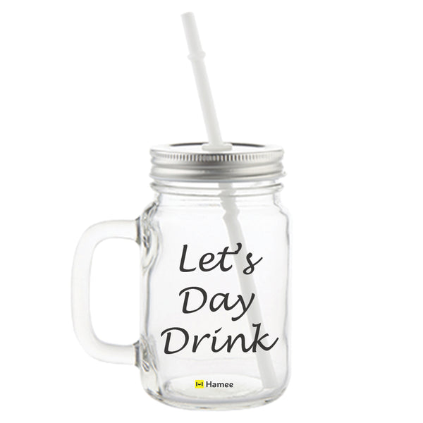 Day Drink Printed Mason Jar with Straw-Hamee India