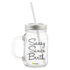 Sassy Since Birth Printed Mason Jar with Straw-Hamee India