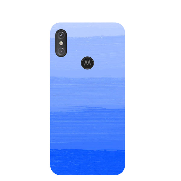 Blue Blush Motorola One Power Back Cover-Hamee India