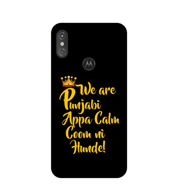 Punjabi Motorola One Power Back Cover-Hamee India