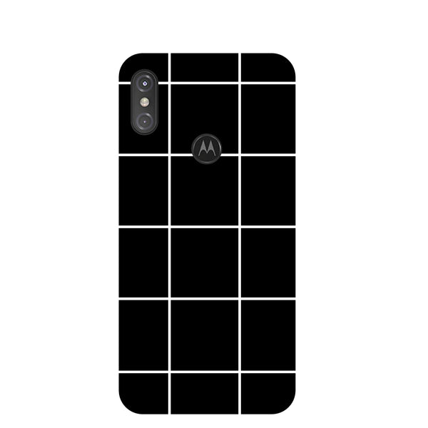 Checks Motorola One Power Back Cover-Hamee India