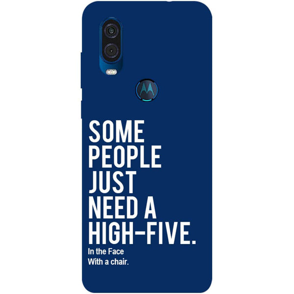 High Five Motorola One Vision Back Cover
