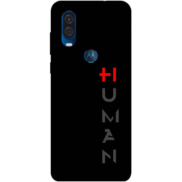 Human Motorola One Vision Back Cover