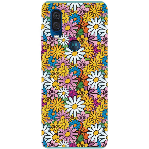 Colourful Flowers Motorola One Vision Back Cover