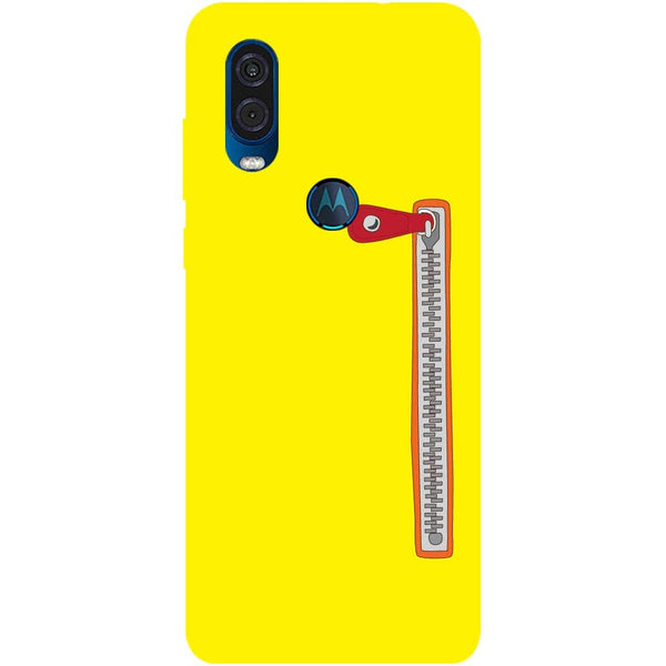 Zip Motorola One Vision Back Cover