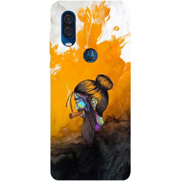 Splash Beard Motorola One Vision Back Cover