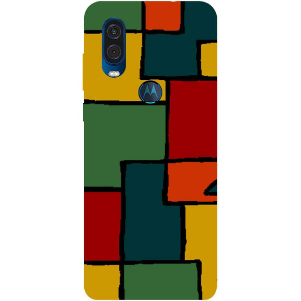 Blocks Motorola One Vision Back Cover