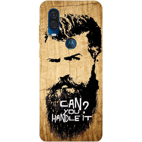 Handle Beard Motorola One Vision Back Cover
