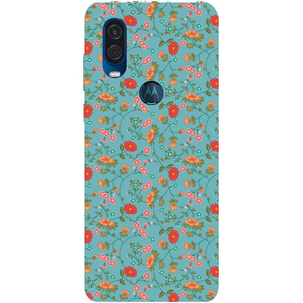 Floral Motorola One Vision Back Cover