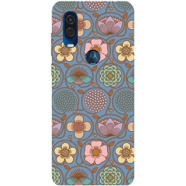 Flowers Motorola One Vision Back Cover