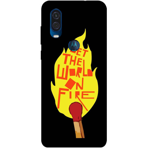 Fire Motorola One Vision Back Cover