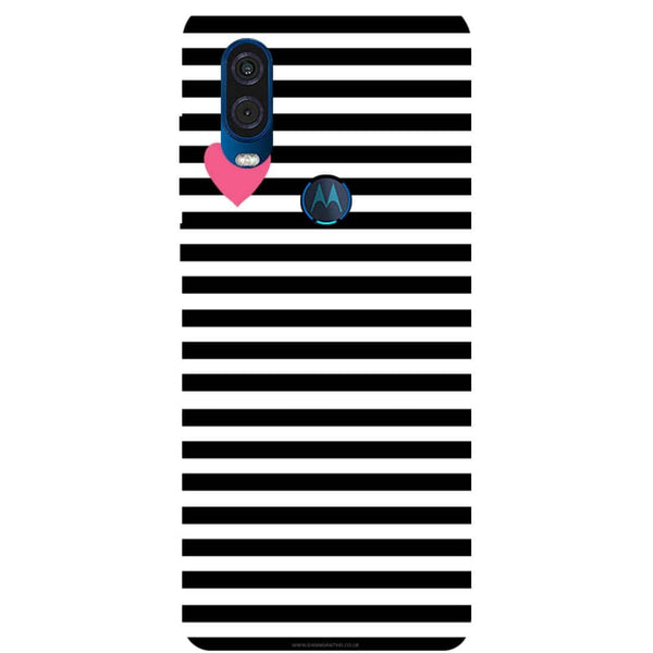 Stripes Motorola One Vision Back Cover