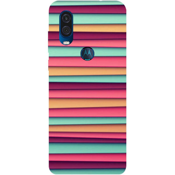 Colourful Stripes Motorola One Vision Back Cover