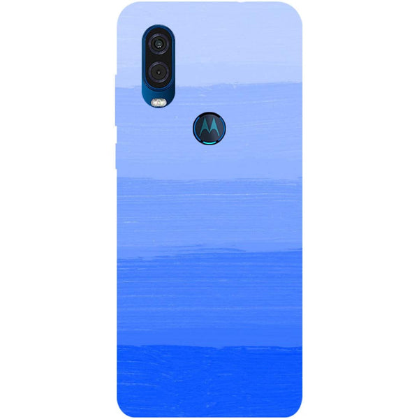 Blue Motorola One Vision Back Cover